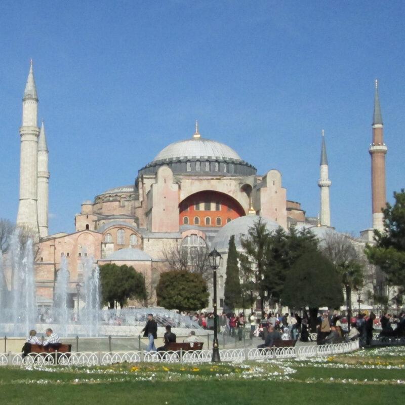 The Hagia Sofia in Istanbul, Turkey.