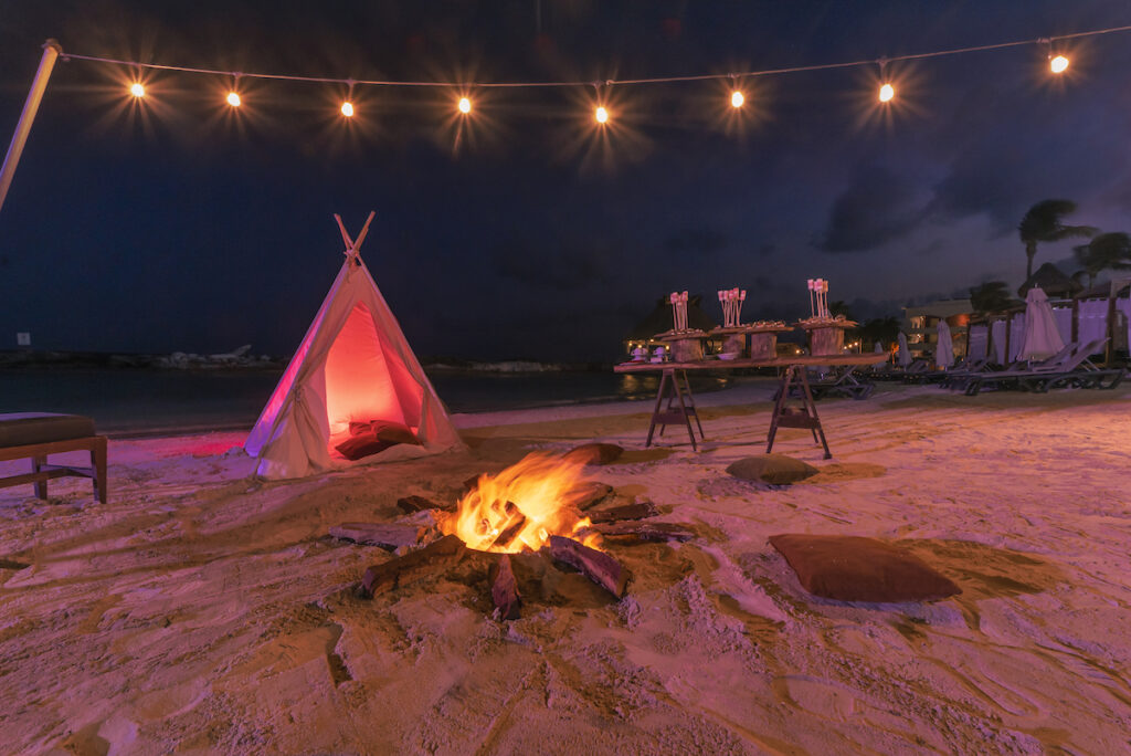 The fire pit experience, Hard Rock Hotel Riviera Maya.