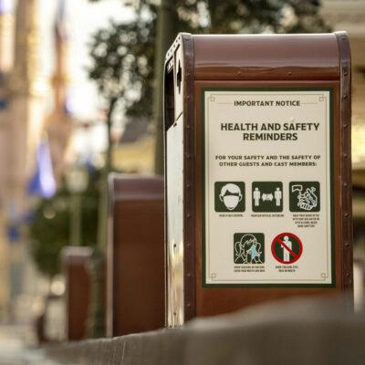Safety signage at Disney World.
