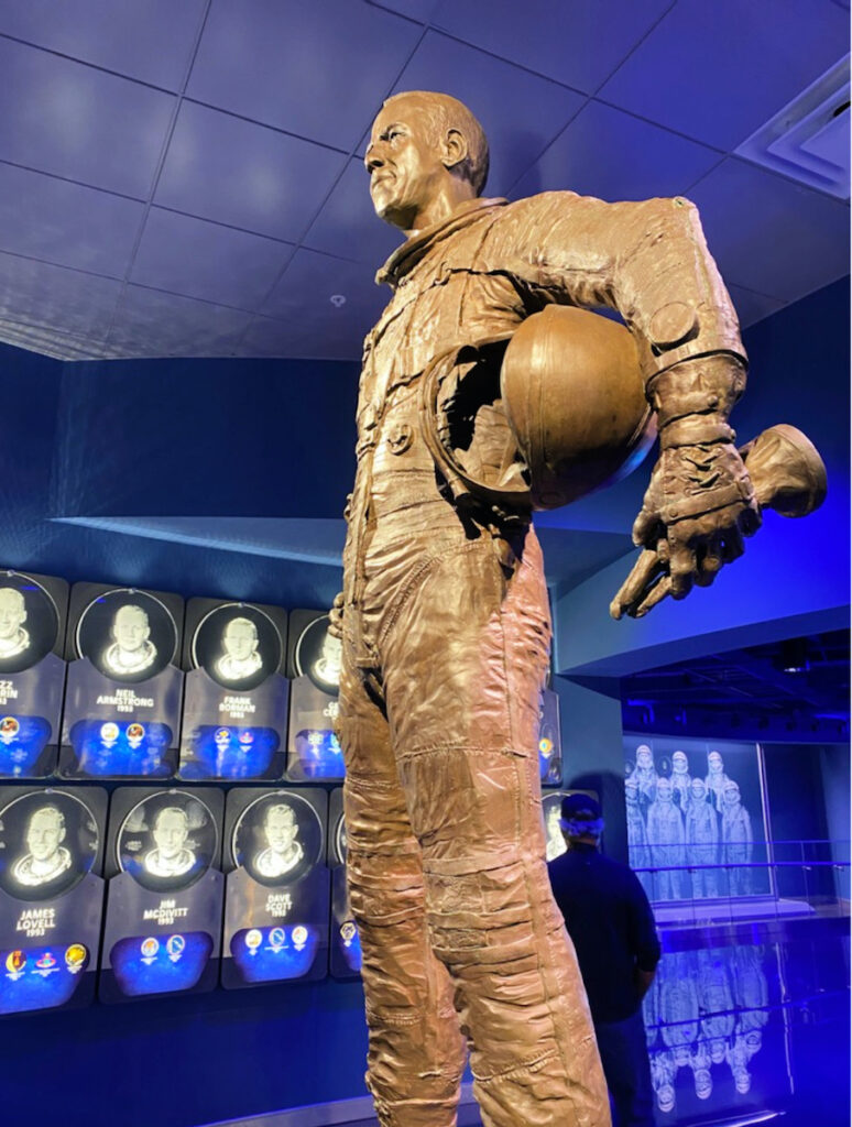 An exhibit at Kennedy Space Center.