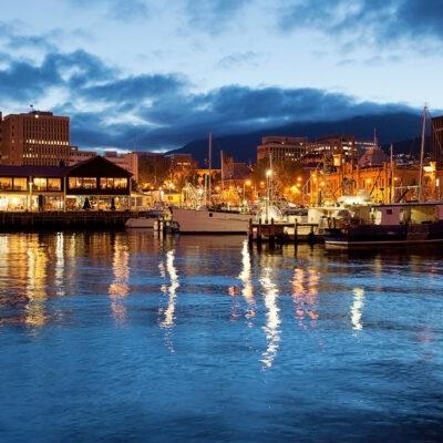 Hobart, Australia waterfront.