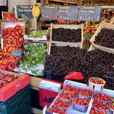 Fruit market in France.