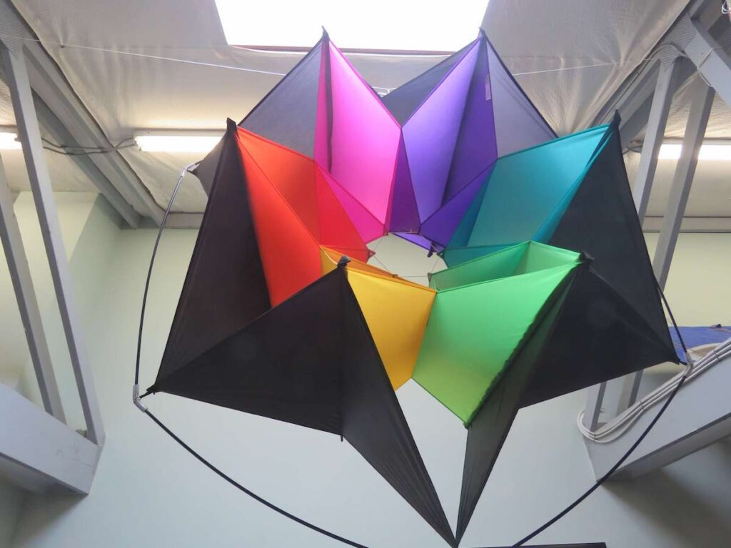 A massive kite in World Kite Museum.