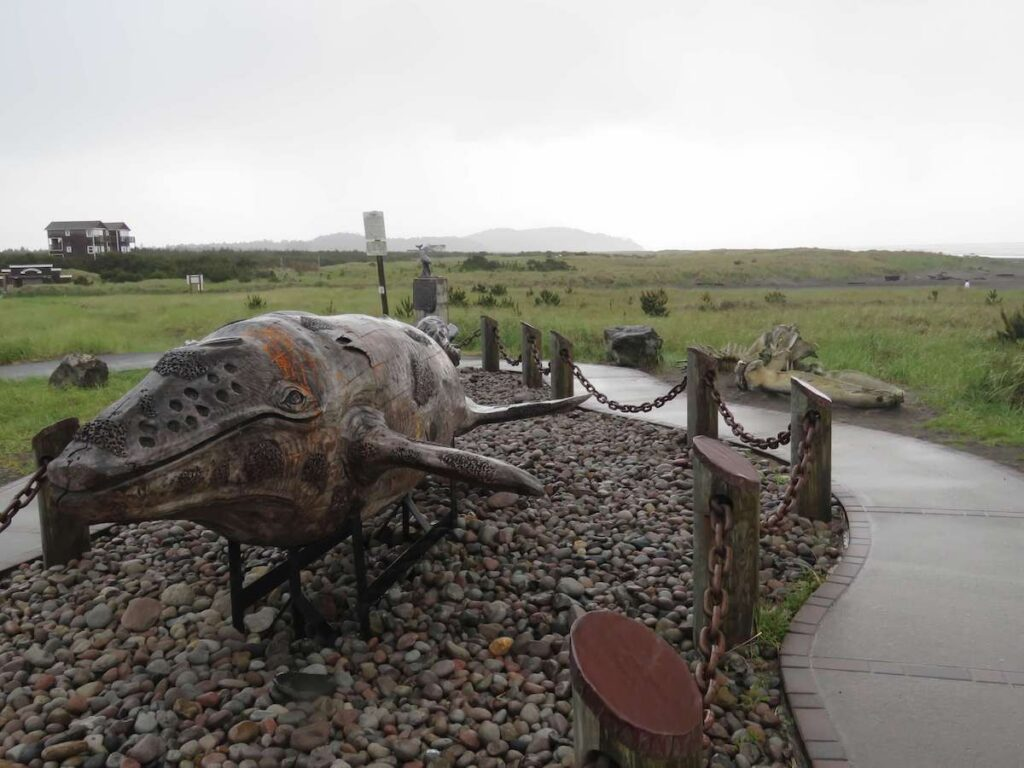 Whale sculpture on the Discovery Trail.
