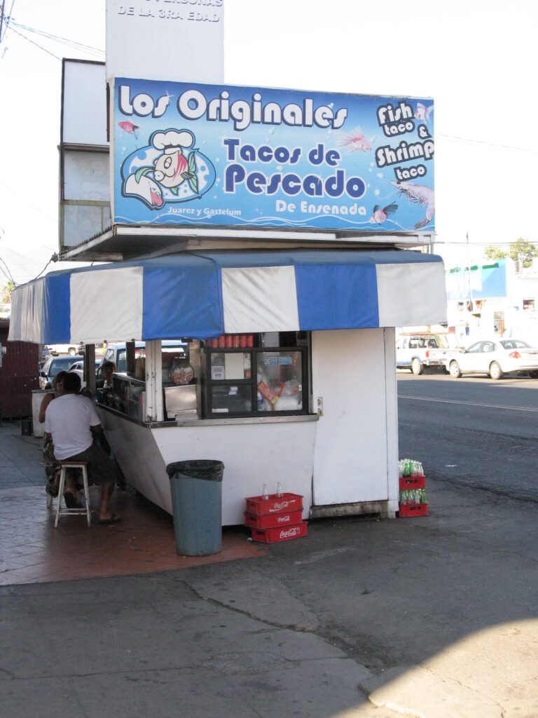 Exterior of Fish Tacos de Ensenada stand.