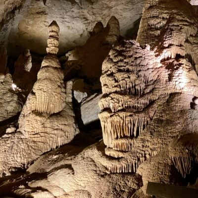 Caves in North America.