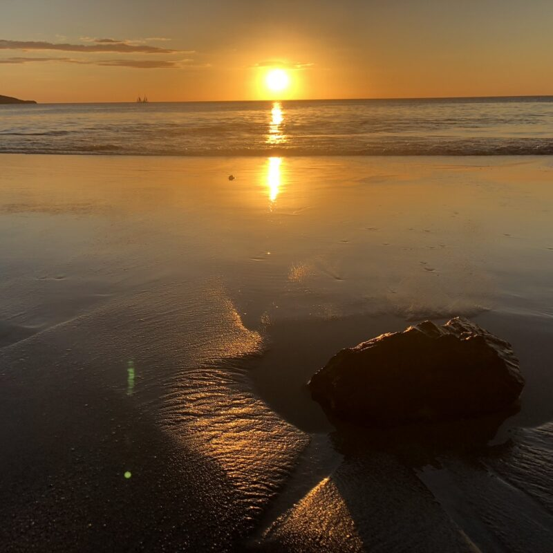Sunset on the beach in Costa Rica.