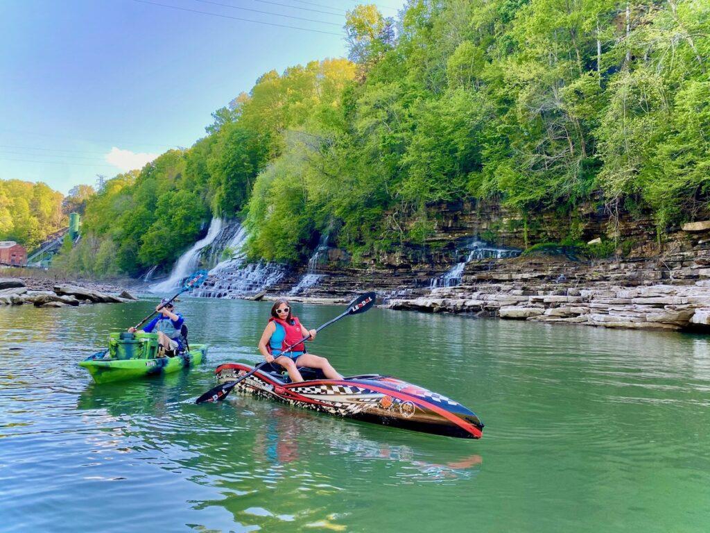 Kayaking, Rock Island State Park, Sparta.