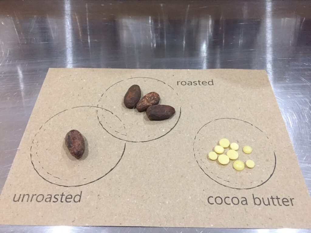 Various types of cocoa.