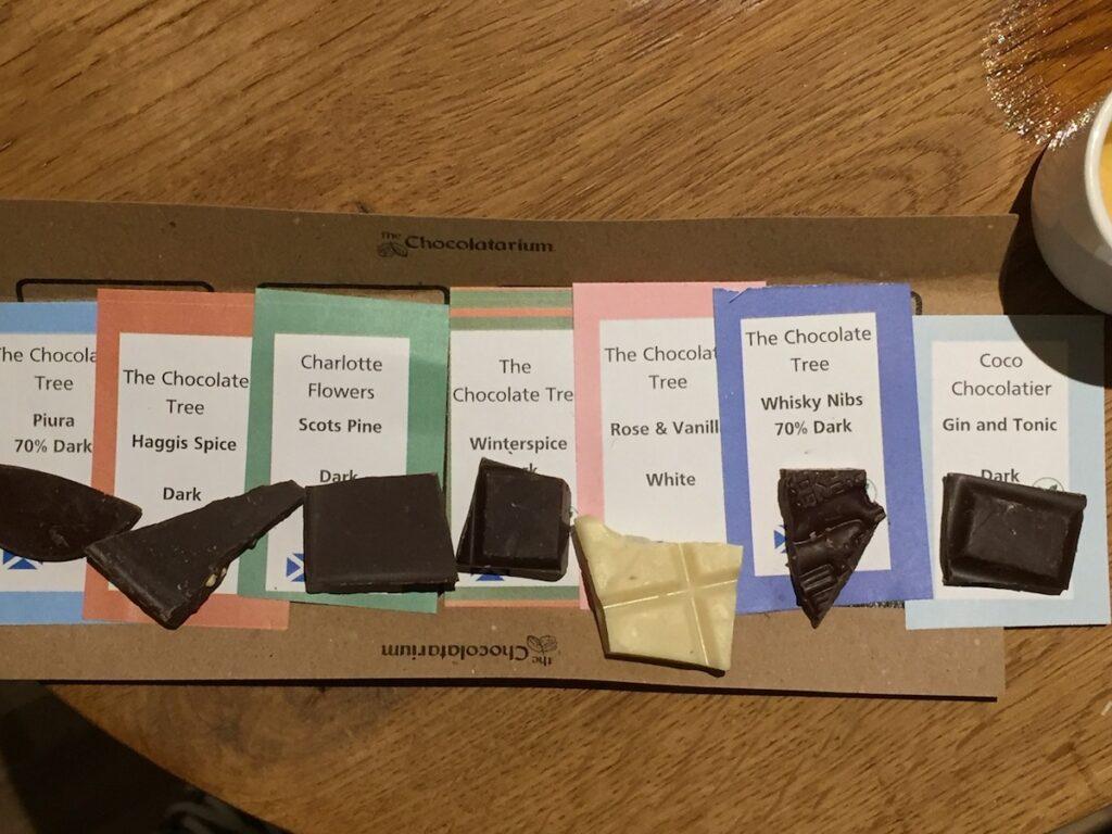 A flight of chocolates.