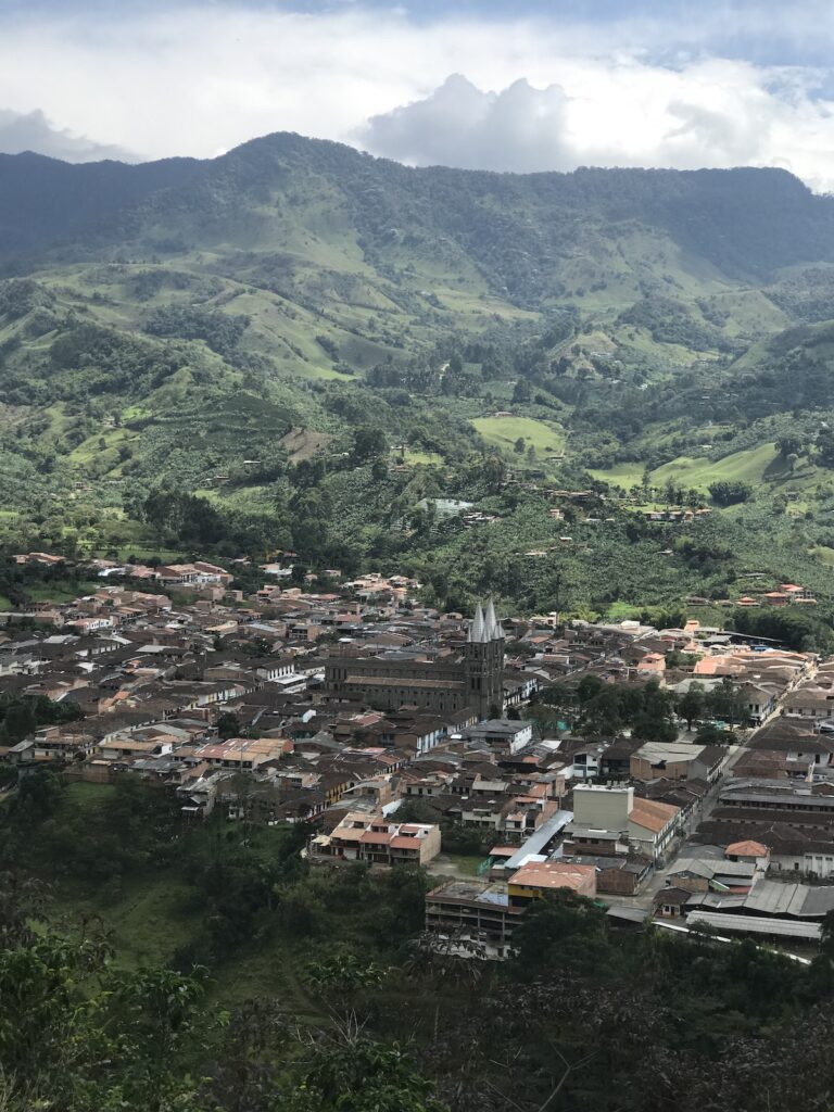 Jericó, Colombia, aerial view.