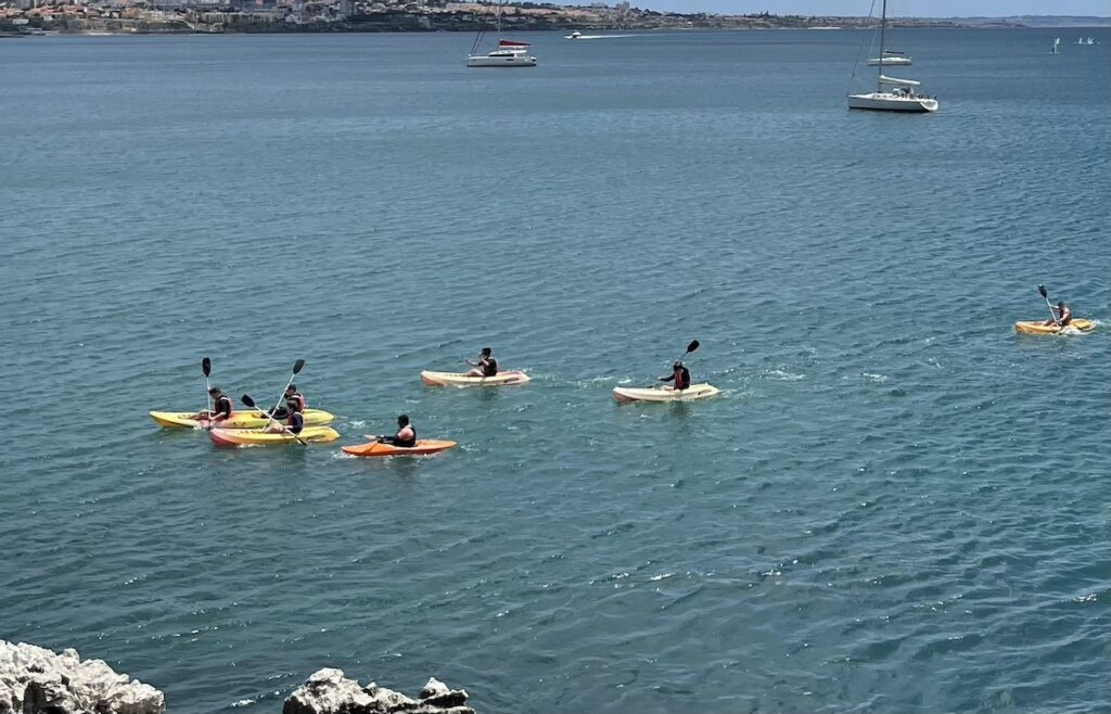 Kayaking in Portugal.