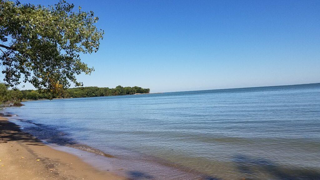 Beach in Kelleys Island, Ohio.