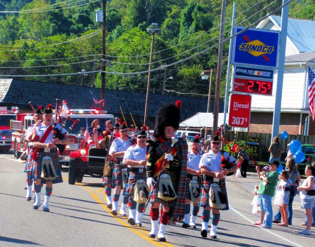 A parade in Marmet, West Virginia.
