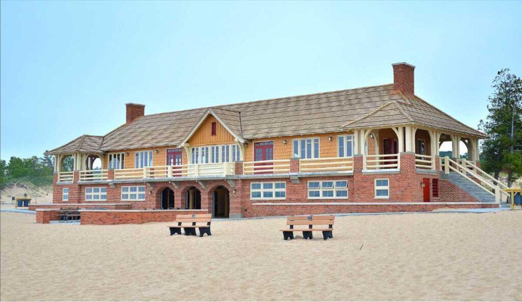 Ludington State Park Beach House, Michigan.
