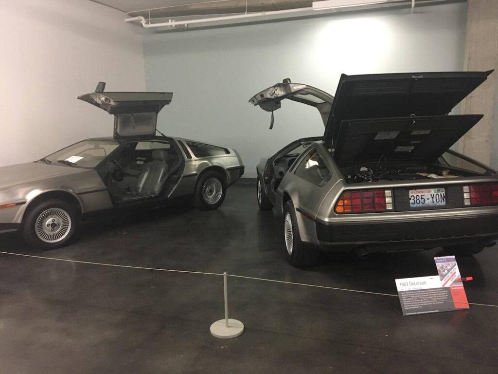 DeLoreans at LeMay–America's Car Museum.