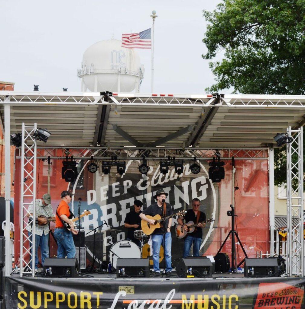 Live music in McKinney, TX.