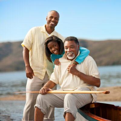 Multi-generational family boating.