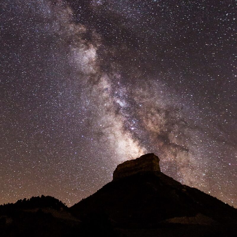 Stars from Point Lookout, Mesa Verde National Park.