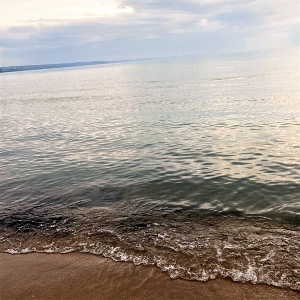 Beach at Petoskey State Park, Michigan.