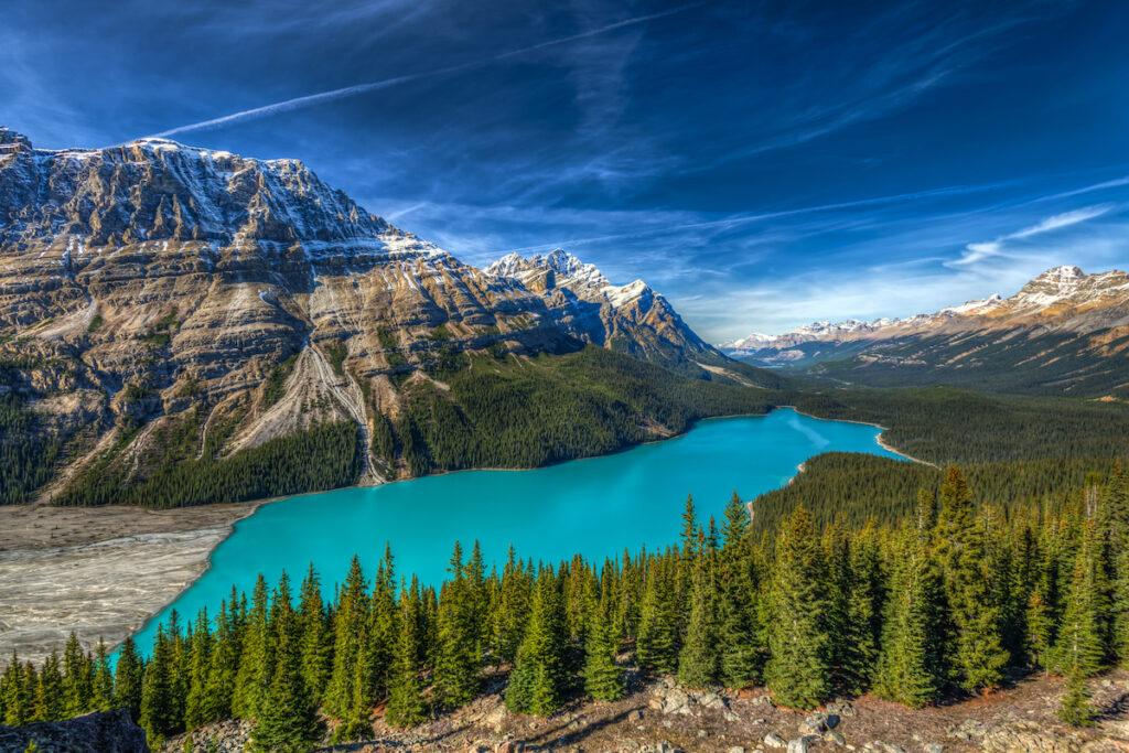 Peyto Lake in Alberta, Canada.