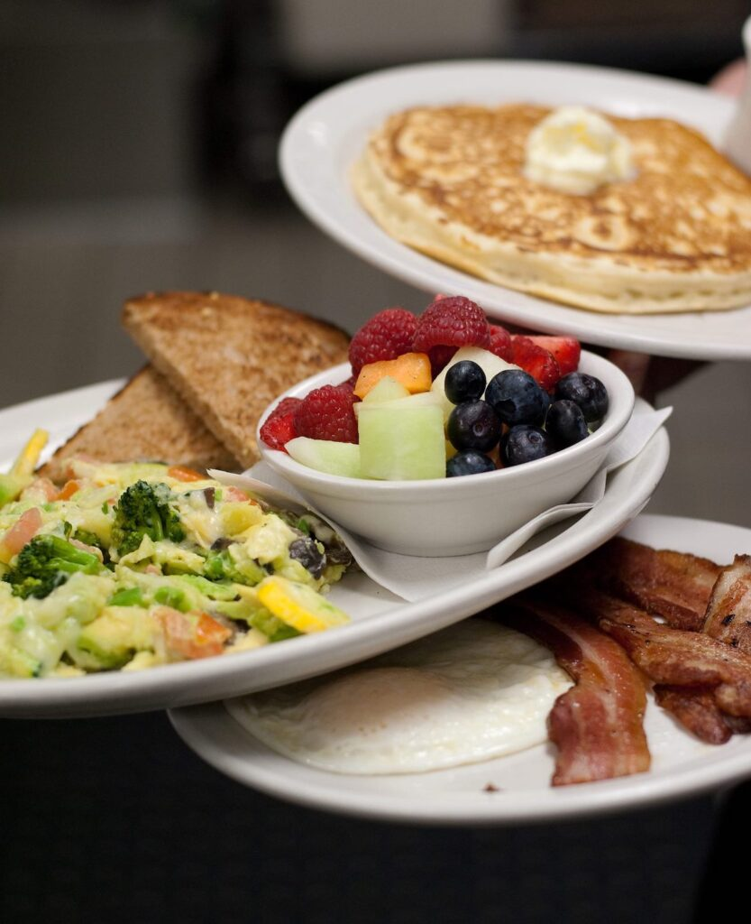 Beakfast options at Nova Cafe, Bozeman, MT.
