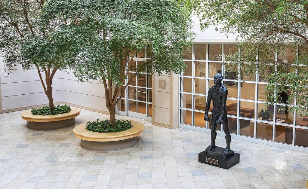 Statue at Davidson College.