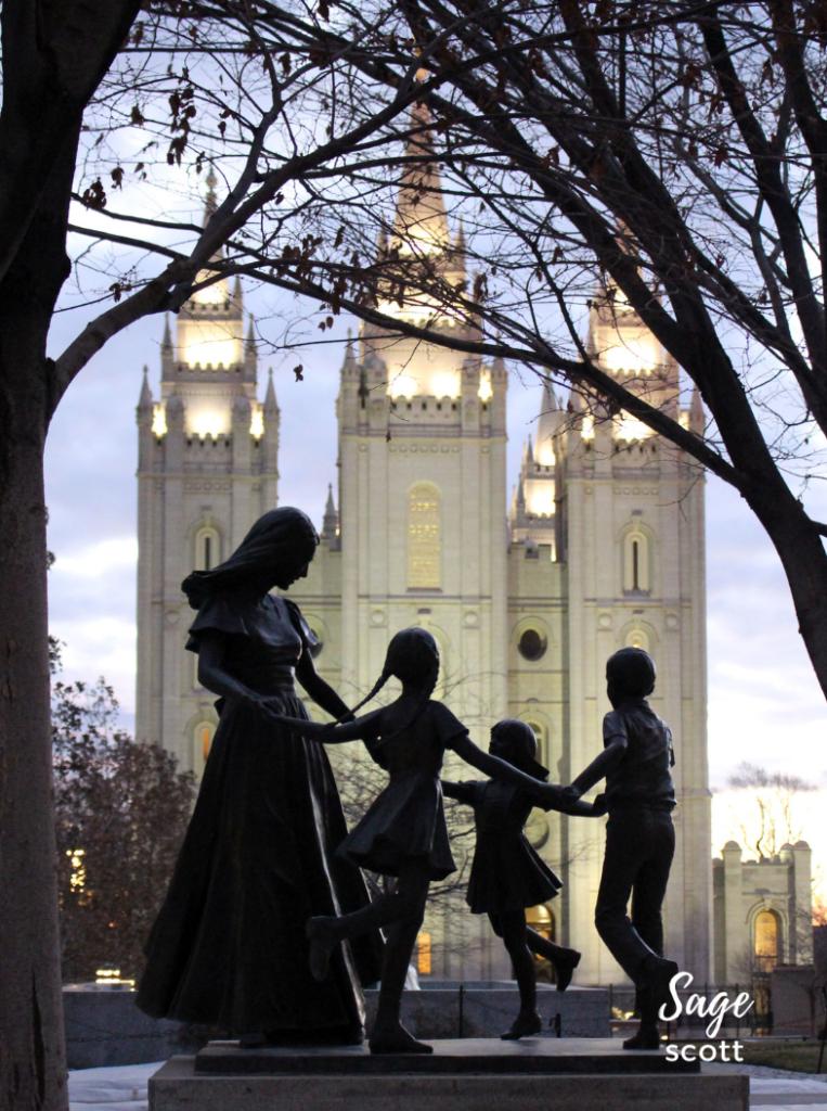 Temple Square in Utah.