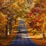 Skyline Drive in autumn, Shenandoah National Park.