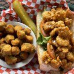 Shrimp po' boy platter.