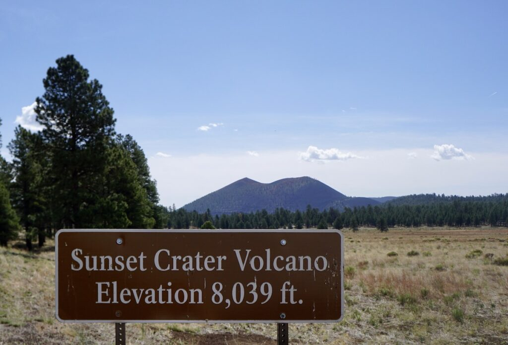 Sunset Crater National Monument entrance.