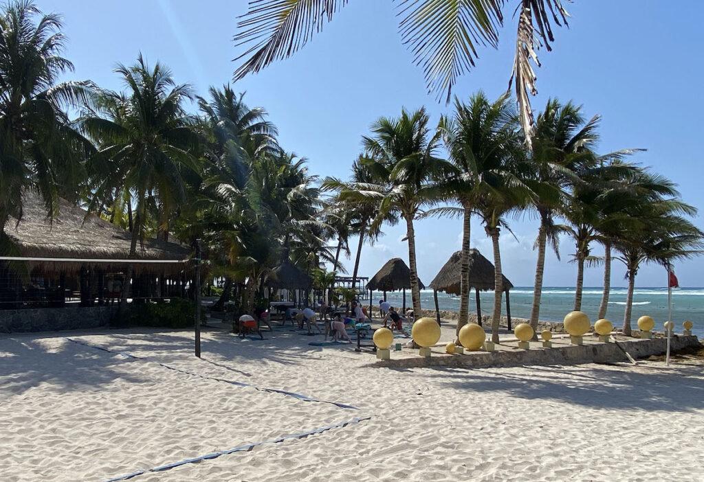 Morning yoga, El Dorado Seaside Suites.