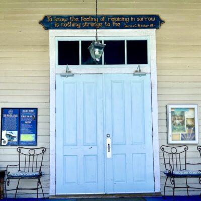 Entrance to 100 Men Hall, Mississippi.
