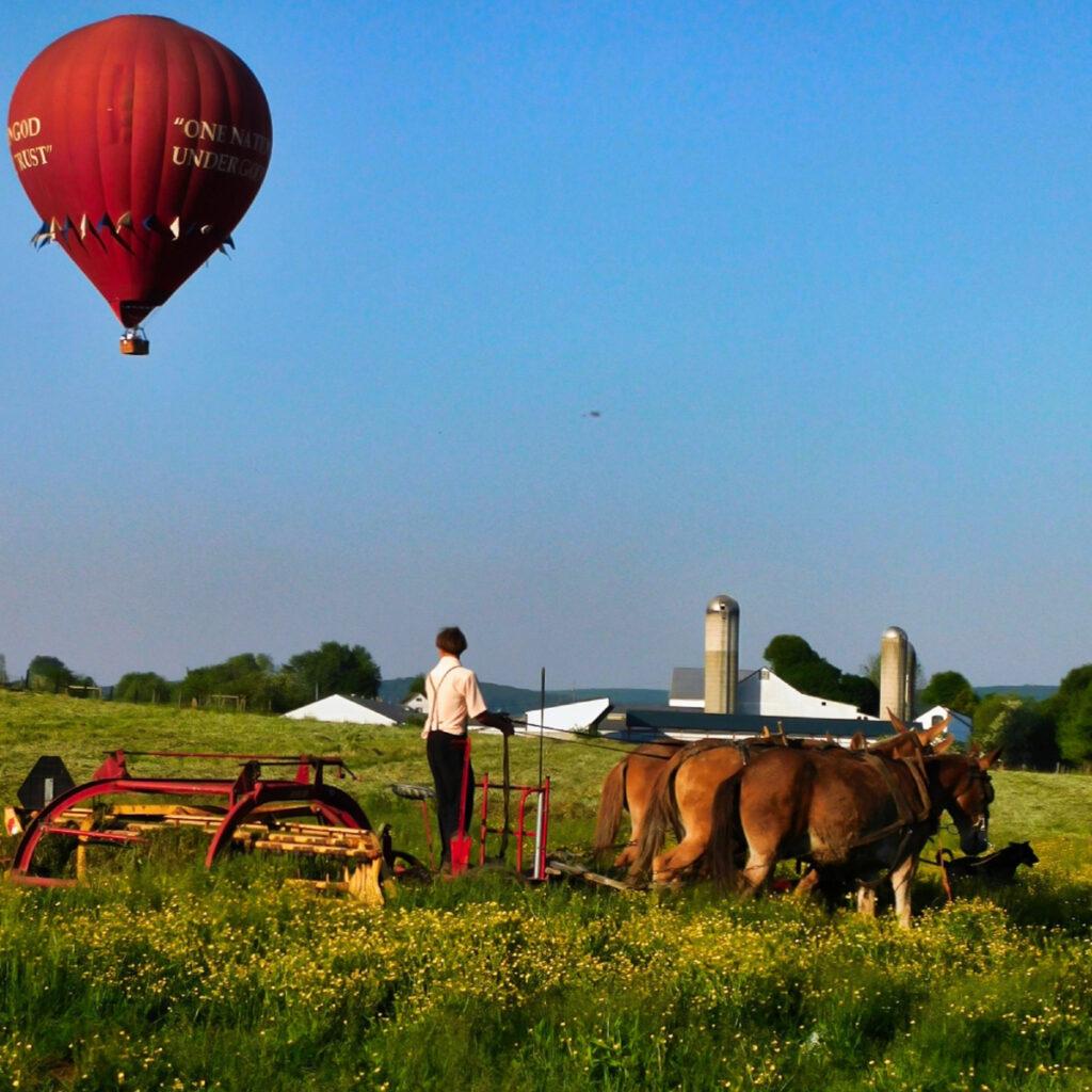 Lancaster hot air ballon.