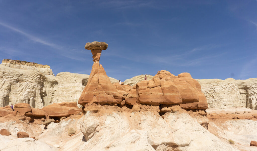 Toadstools in Grand Staircase–Escalante National Monument.