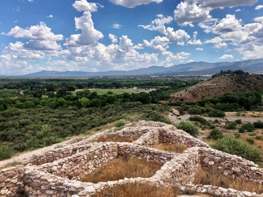 Tuzigoot National Monument from above.