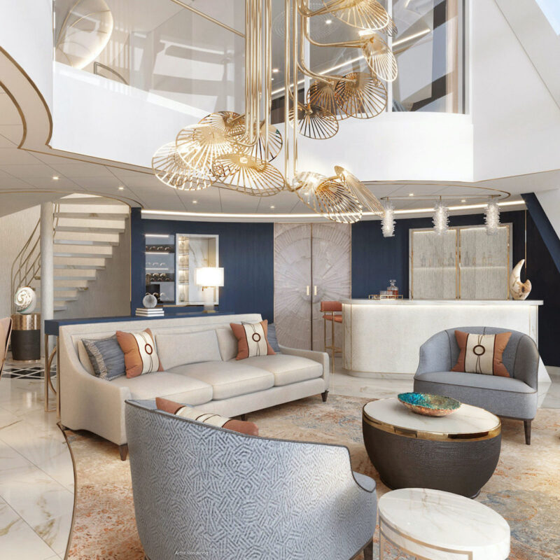 The interior of Wish Tower Suite.