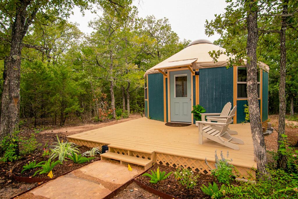 Luxury yurt, The Reserve at Greenleaf.