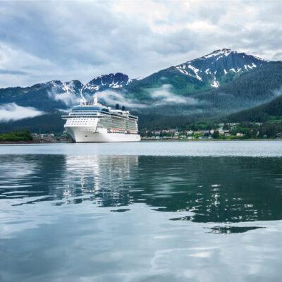 Cruise ship near Juneau, Alaska.