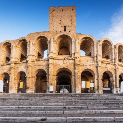 Roman ampitheater in Arles, France.