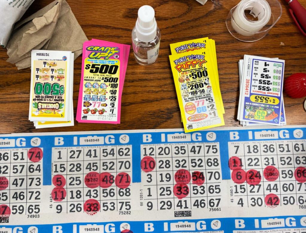 Bingo cards in Dunbar, WV.