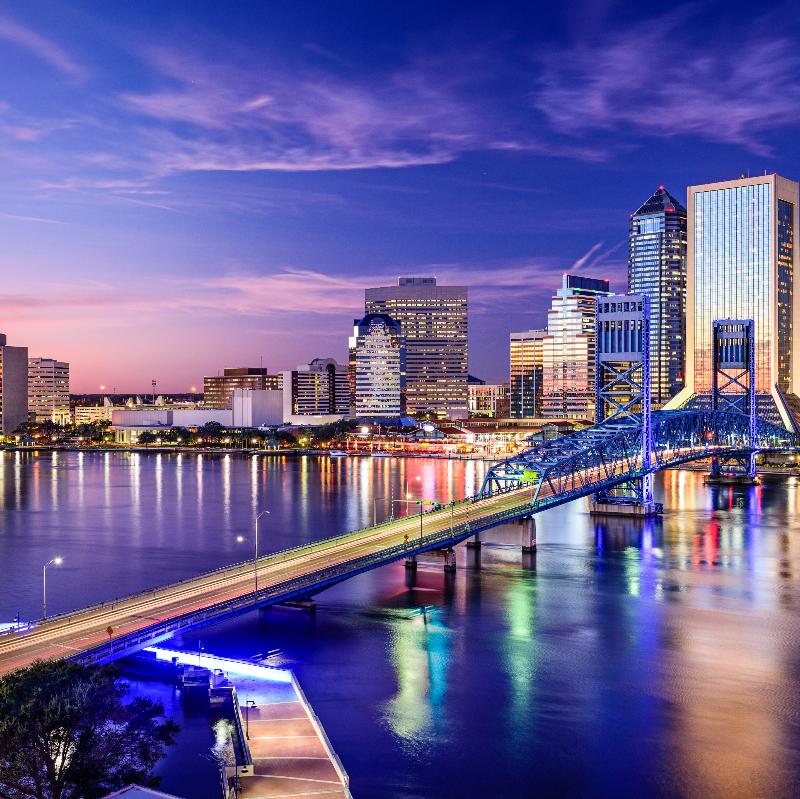 Jacksonville, Florida, USA downtown city skyline.