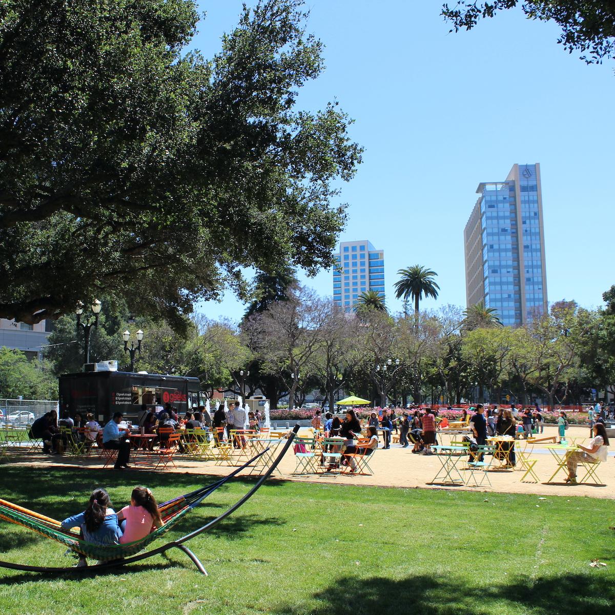 Cesar Chavez Park in San Jose, California.