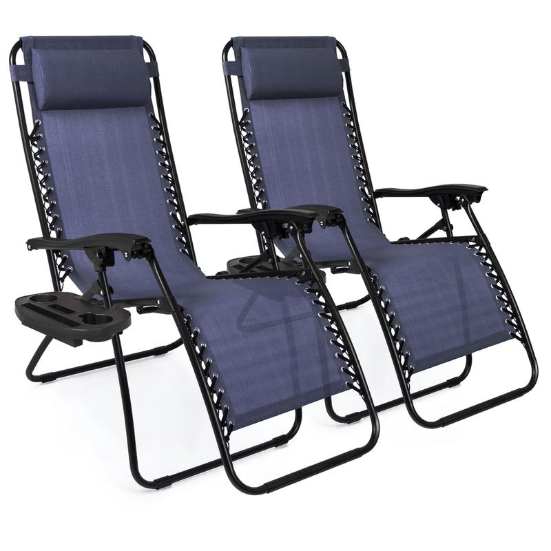 Zero gravity recliners in navy with cup holders