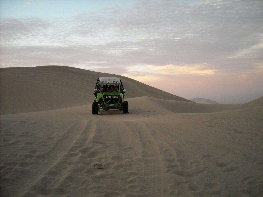 Dunebuggy near Huacachina Oasis, Peru.