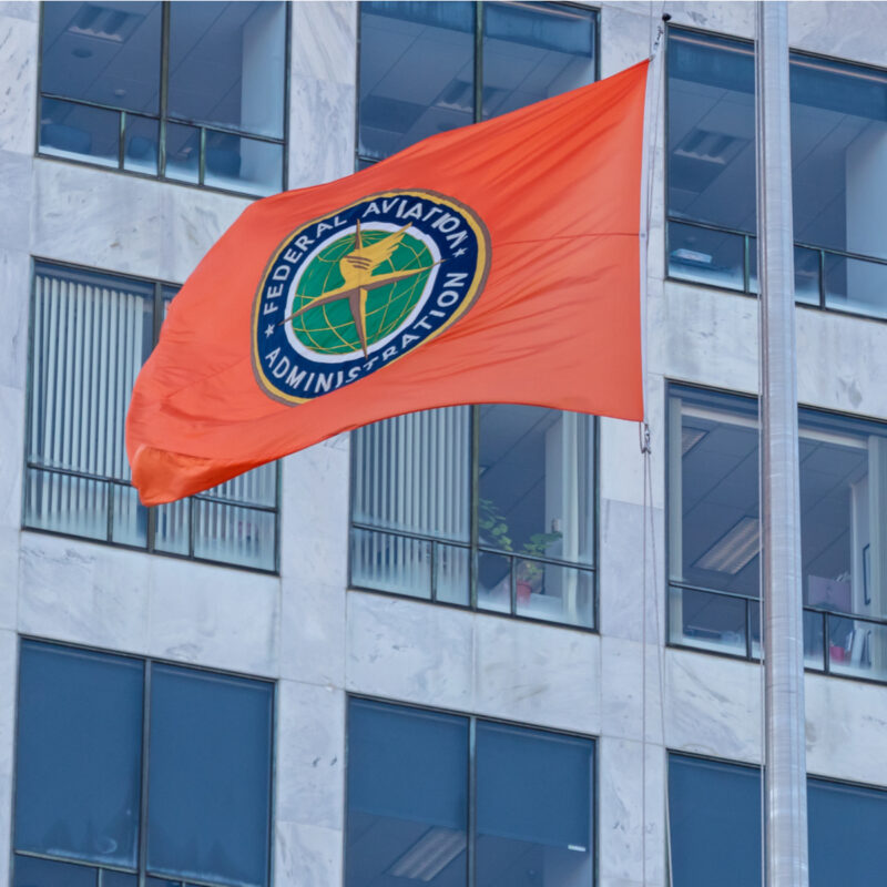Federal Aviation Administration flag, Washington, DC.
