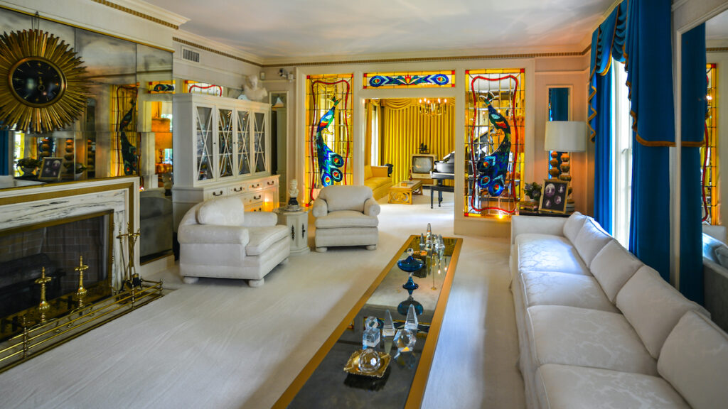 Inside Graceland, Elvis Presley's home, Memphis.