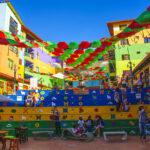 Plaze de Zocalos in Guatapé, Colombia.