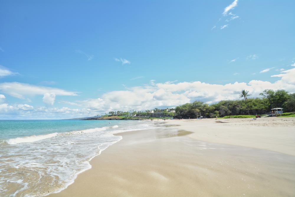 Hapuna Beach sur la grande île, à Hawaï.