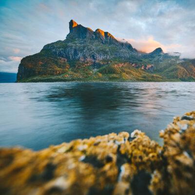 Hernelen cliff in Nordfjord, Norway.
